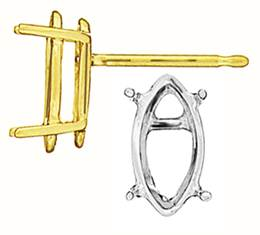 LIGHT 4 PRONG MARQUISE EARRING