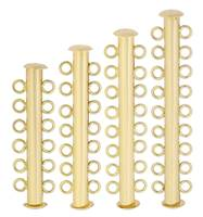 Gold Filled Multi-Row Tube Clasp