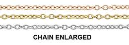 14K Gold Chain 1.10mm Width Round Cable Chains (A)