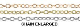 14K Gold Chain 1.40mm Width Round Cable Chains