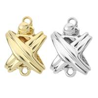 14K TWO SIDED X CLASP S16435-14K
