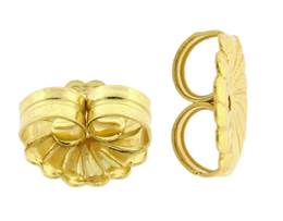 Vermeil Gold 9.0mm Rosette Earnut