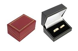 CLASSIC LEATHERETTE DOUBLE RING BOX 17738-BX