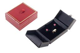 CLASSIC LEATHERETTE RING AND EARRING BOX 17769-BX