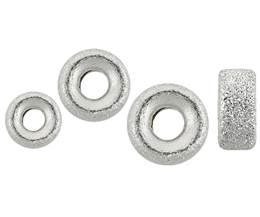 Sterling Silver Satin Roundel Beads