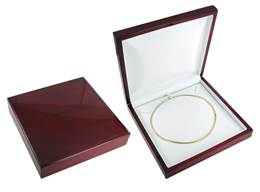 ROSEWOOD VENEER I NECKLACE BOX 18881-BX