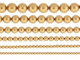 BRIGHT GOLD PEARL SWAROVSKI CRYSTAL