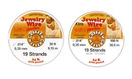 Jewelry Beading Wire 0.014 Gold