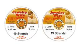 Jewelry Beading Wire 0.018 Gold