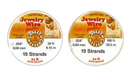 Jewelry Beading Wire 0.024 Gold