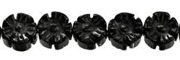 Black Agate Bead Flower Shape Gemstone