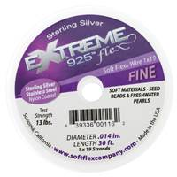 Soft Flex Beading Wire 0.014 Silver