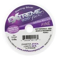 Soft Flex Beading Wire 0.014 Silver