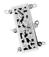 Sterling Silver Filigree Multi-Strand Clasp
