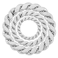 SIlver Braided Closed Jumpring 14.5mm Thick