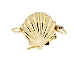 14K CLAM SHELL CLASP WITH SAFETY 2572-14K