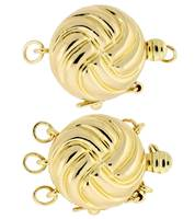 MULTI-STRAND ROUND CLASP WITH SAFETY 2619-14K