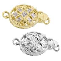 14K Diamond Accent Oval Bead Clasps