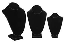 STYLE B BLACK VELVET NECKFORMS 27672-BX