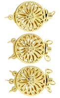 18K Multi-Rows Filigree Round Clasp