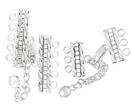Sterling Silver Adjustable Crystal Tube Clasp