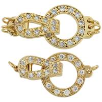 Gold Vermeil Cubic Zirconia Fold-Over Circle Clasp
