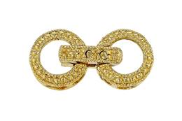 Gold Vermeil Cubic Zirconia Fold-Over Circle Clasp C-1