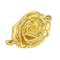 Vermeil Gold Rose One Touch Clasp