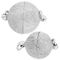 Rhodium Silver Magnetic Star Dust Clasp