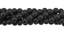 Black Agate Bead Ball Shape Matt Gemstone