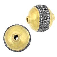Vermeil Diamond Ball Beads
