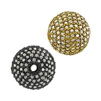 14K Ball Black Diamond Bead