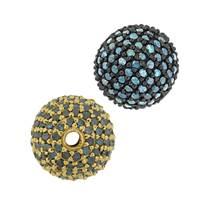 14K Ball Blue Diamond Bead