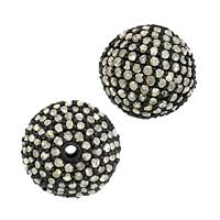 Rhodium Sterling Silver Ball Diamond Bead B-13