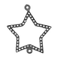 Rhodium Sterling Silver Diamond Star P-1
