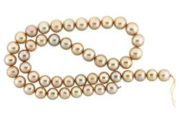 Freshwater Pearl Champagne 9-10mm Graduated Potato