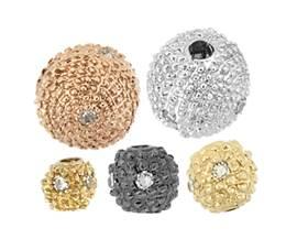 14K Ball Diamond Beads