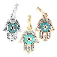 14K Diamond Evil Eye Hamsa Charms