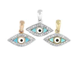 14K Diamond Evil Eye Charms (A)