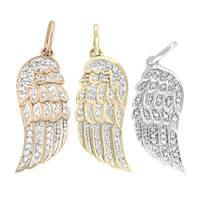 14K Diamond Wing Right Side Charms