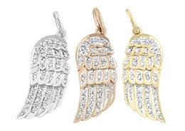 14K Diamond Wing Left Side Charms