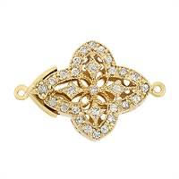 Gold Vermeil Cubic Zirconia Filigree Clasp