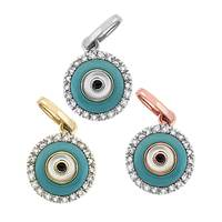 14K Diamond Evil Eye Charms (B)