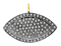 Rhodium Silver Diamond Marquise Eye 26mm