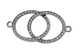 Rhodium Sterling Silver Diamond Centerpiece P-8