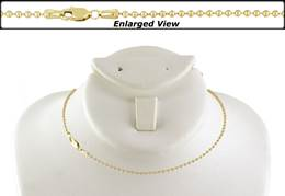 14K Ready to Wear 1.8mm Bead Chain Necklace With Lobster Clasp
