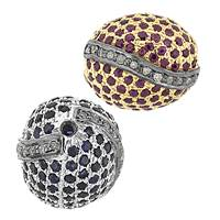 Rhodium Sterling Silver Rice Ruby or Sapphire Bead