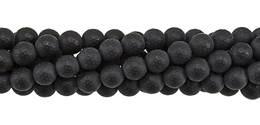 Black Agate Bead Ball Shape Faceted Matt Gemstone