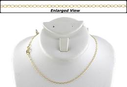 18K Ready to Wear 1.5mm Flat Round Cable Chain