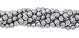 Silver Hematine Bead Ball Shape